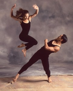 """Francisco Gella in a 1990s photo for 'Turf,  a piece by Shapiro and Smith for the Repertory Dance Theatre. Gella's newest work """"Schubert Impromptu' will be presented at the RDT 'Reunion' concert."""