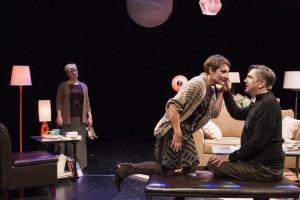 April Fossen, Susanna Florence Risser and Mark Fossen, Melissa Leilani Larson's 'Pilot Program' by Plan-B Theatre. Photo by Rick Pollock.