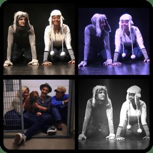 Actors Tyson Baker and Latoya Rhodes in Ruff!.
