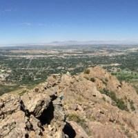 """Reaching views reserved for elite climbers on Ogden Canyon's """"Iron Road"""""""