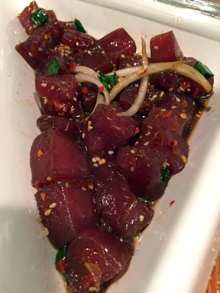 Shoyu ahi at Laid Back Poke Shack