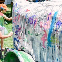 Backstage at The Utah Arts Festival 2017: Kids Art Yard a model of creative upcycling art, community partnerships
