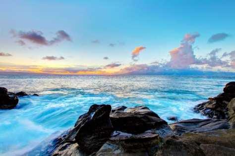 South Maui Island beautiful cliffs and coast