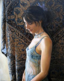 Self Portrait in Oils by Annabelle Valentine
