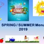 SPRING / SUMMER Menu 2019