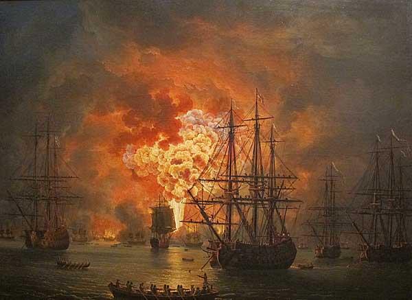 Jacob Philipp Hackert, battle scene with early CGI