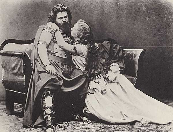 Herr & Frau Schnorr as Tristan und Isolde, Munich 1865 (photo by Joseph Albert)