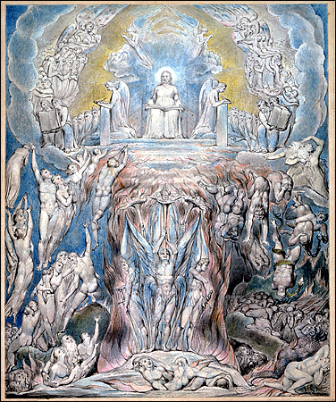 """Blake's Day of Judgment: """"You, you and you: damned"""""""