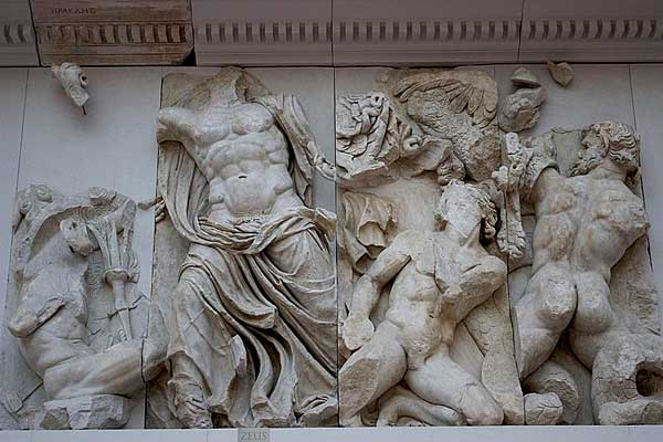 Detail from the Altar of Zeus at Pergamon