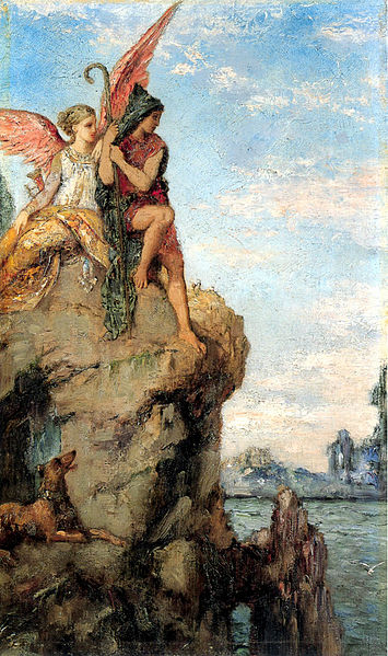 Hesiod and the Muse by Moreau (1870)