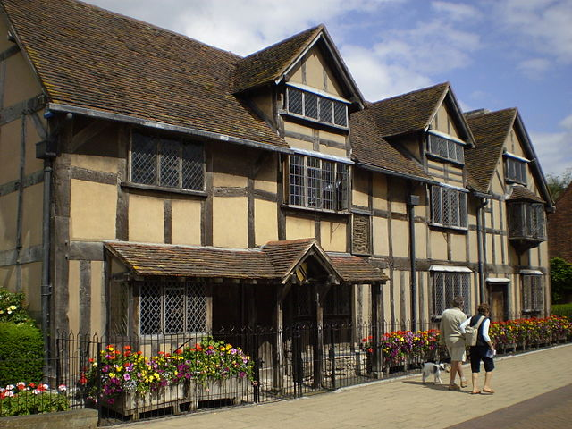 "His house in Stratford-upon-Avon (photo attributed to ""Pessimist"")"