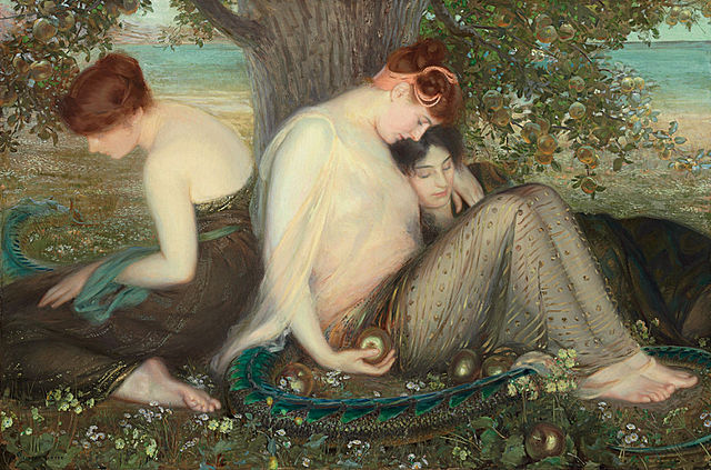 'She's apples'...the garden painted by Albert Herter (1898)
