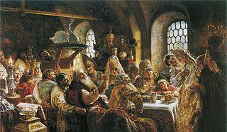The Boyars' Wedding by Konstantin Makovsky (1883)