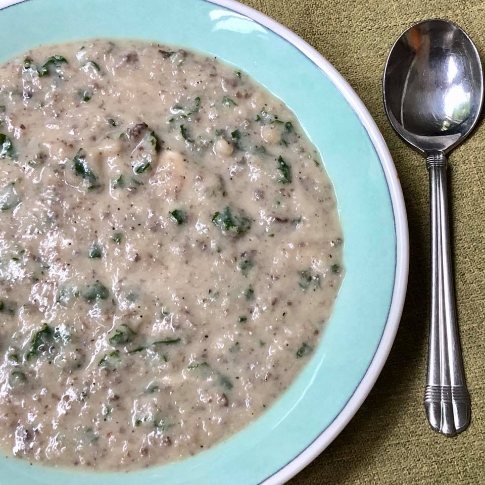 Creamy Mushroom Cauliflower Soup