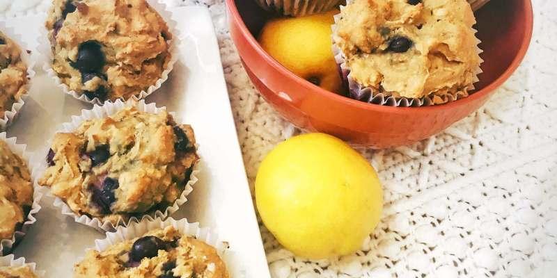 Vegan Lemon Blueberry Muffins | The Vegan Abroad