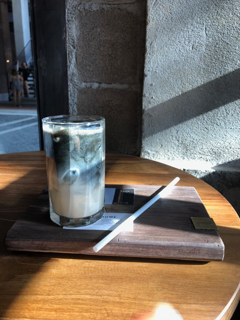 Monochrome Iced Coffee at Graph Cafe