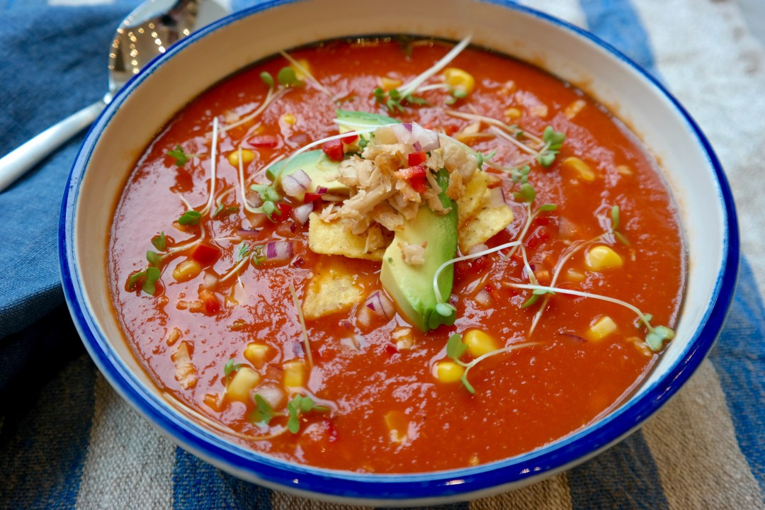 vegan tomato tortilla soup