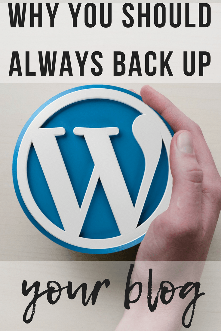 Why you should always back up your blog | www.thevegasmom.com