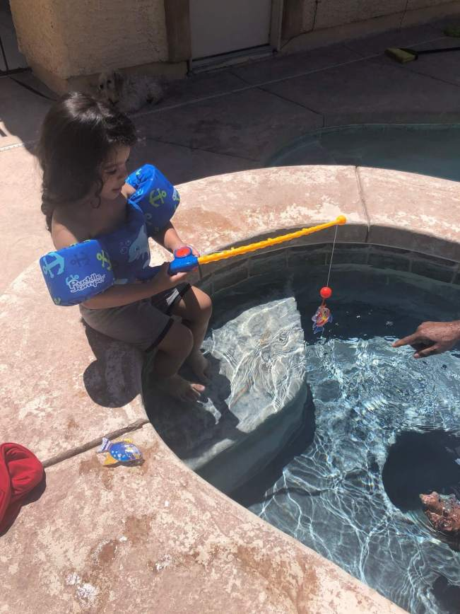 Top 3 Must Have Items I Use for Going in the Pool with Toddlers | www.thevegasmom.com