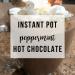 Instant Pot Peppermint Hot Chocolate | www.thevegasmom.com