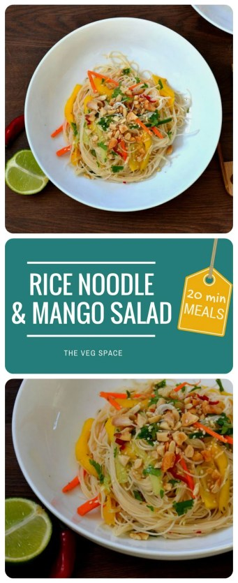 Rice Noodle & Mango Salad | The Veg Space