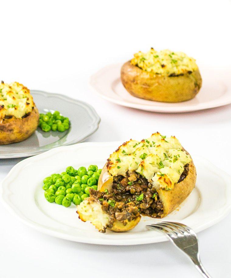Veggie Shepherds' Pie Jacket Potatoes