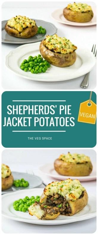 Vegetarian Shepherds Pie Jacket Potatoes