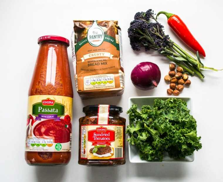 Broccoli, Kale, Chilli & Hazelnut Vegan Pizza