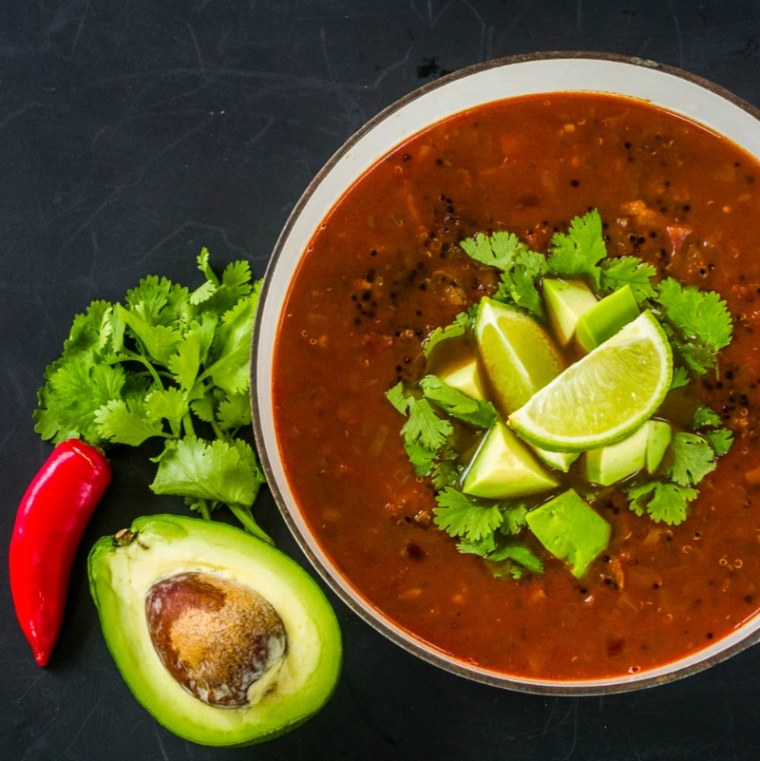 Smoky Mexican Quinoa Soup
