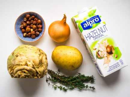 Celeriac & Hazelnut Soup | Vegetarian & Vegan