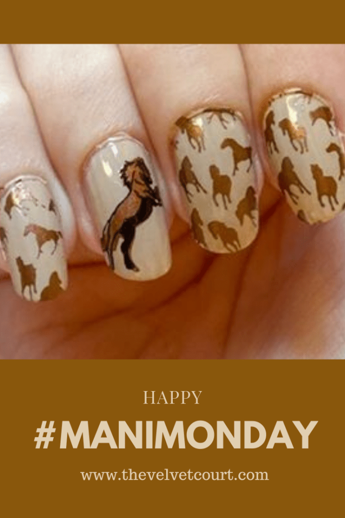 Discover how you can recreate this horse look using Clear Jelly Stamper, Lina Nail Art Supplies, Hit the Bottle and Born Pretty stamping products.