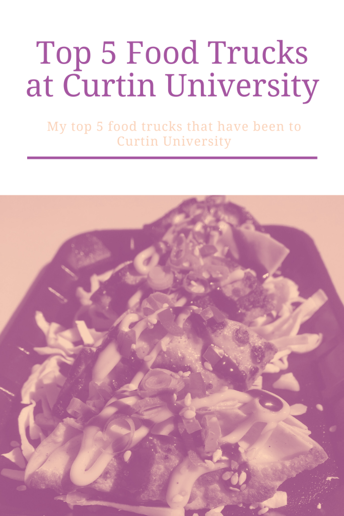 One of my favourite things about university is all of the food trucks. So here are my top 5 food trucks that have been to Curtin University.