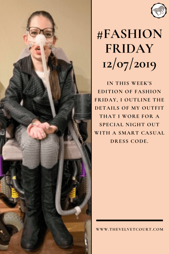 In this week's edition of Fashion Friday, I outline the details of my outfit that I wore for a special night out with a smart casual dress code.