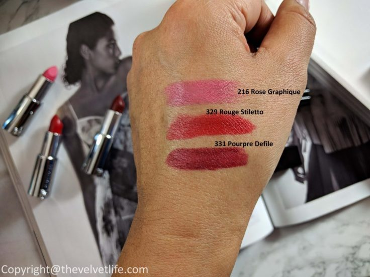 Givenchy Gloss Interdit Vinyl, Le Rouge Mat review swatches