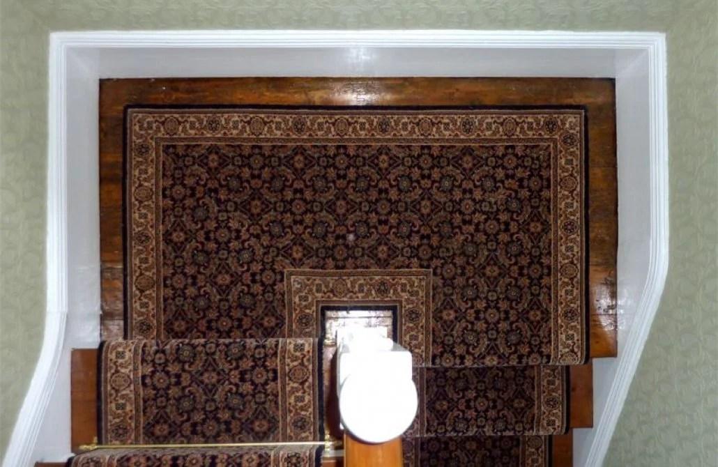 How To Install Stair Runner Corner Stairs   Cutting Carpet For Stairs   Carpet Runner   Wood   Stair Nosing   Landing   Underlay