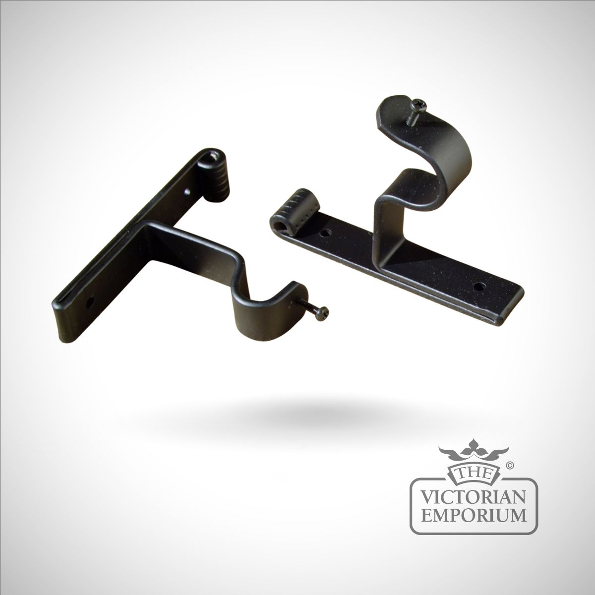 wrought iron end bracket for wrought iron curtain poles
