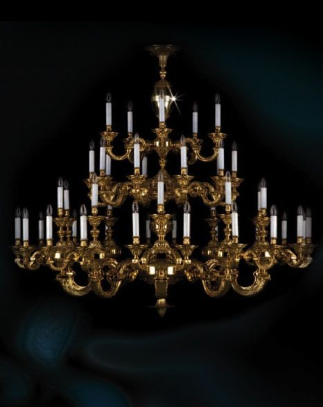 Grand 3 Tier Cast Chandelier