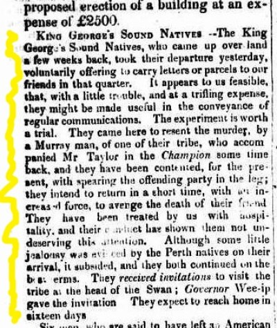 KGS natives in Perth 26 May 1838