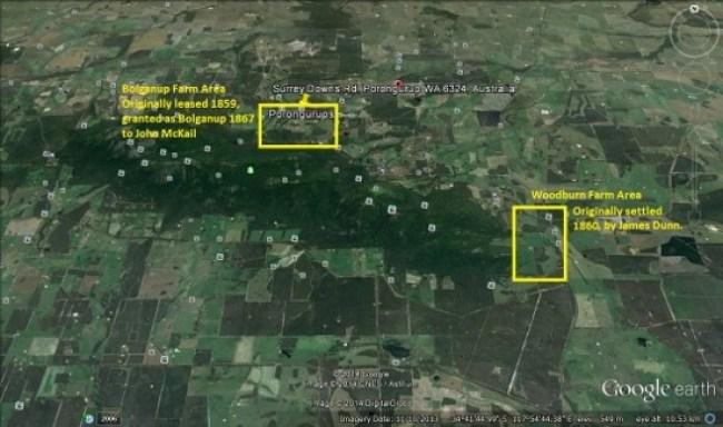 Woodburn and Bolganup - Porongurups - Goog Earth