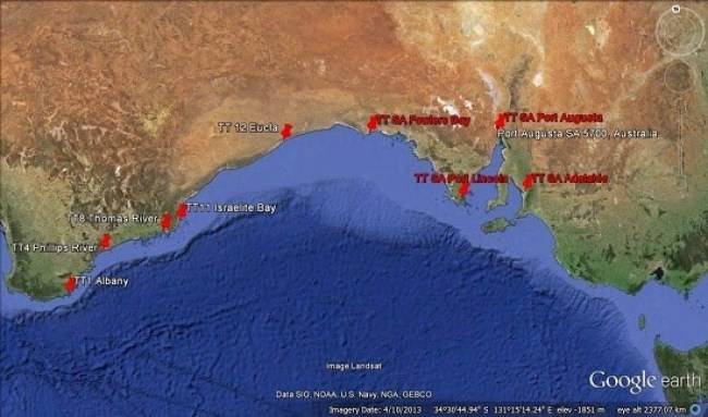 Telegraph - Albany to Port Augsta - Goog Earth