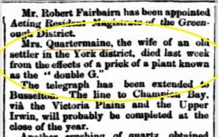 Eliza Qrtrmaine Death Notice I&CN 3.12.1873