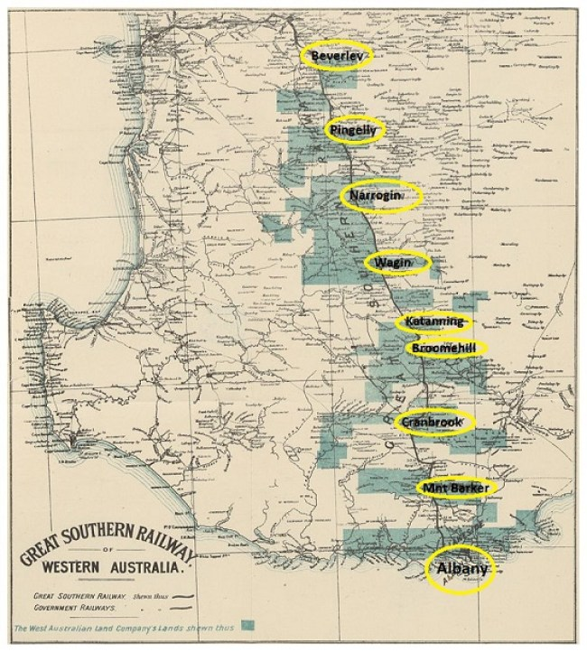 GREAT SOUTHERN RAILWAY MAP