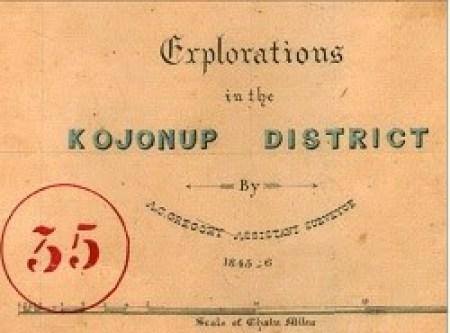 Gregory Field Note -Corner Cut 1845-6 Kojonup