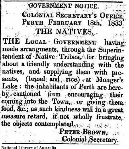 Food Depot at Lake Monger - 1833