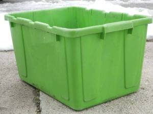Recycling containers such as the one pictured may be a common sight along the curbsides of West Unity very soon.