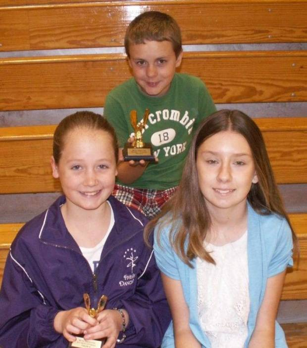 Most Improved Award Grades 4-6: Michelle Sierra, Chace Boothman, Stephanie Loney