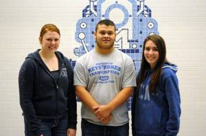 SENIORS: President Anthony Frisby, Vice-President Leslie Clark (not pictured), Secretary Kelci Ibarra, Treasurer Taryn Wiler.