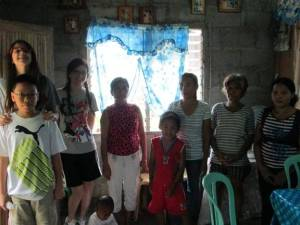 Abigail and Rosemarie with their cousin Taylor visiting a needy family in Toboso, Negros Occidental,Visayas Dec. 1, 2013. A former Australian Rotary Exchange Scholar to Bacolod sent relief goods directly our home. We added some food and delivered these to a needy family in the mountains of Escalante, Negros Occidental. The kids enjoyed a meal with their new friends