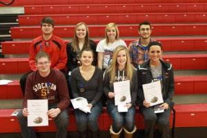 HS SUPERIORS/SPECIAL AWARD WINNERS ... Row 1: Bradley Grimm, Brooke Ashbaugh, Hannah Carothers, Emily Armbruster Row 2: Logan Brooker, Emily Maneval, Kayla Settlemire, Will McKinney (missing Travis Haynes).