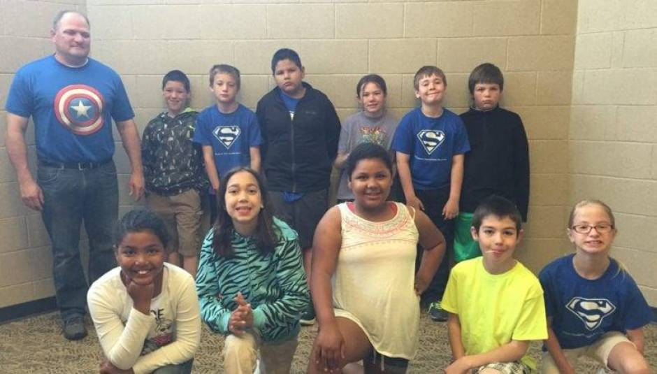 Bad Creek Gang members are: Front Row – Left to Right ; Maya Curry, Summer Mowry, Misha Curry, Ian Law, Leigha Pirrwitz. Back Row – Mr. Jeff Mazurowski, Blake Brown, Brock Webster, Gabe Aranjo, Alexis Savage, Ethin McKenzie, Nathan Jones.